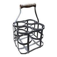 Antique French Wine Bottle Holder