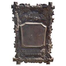 Ornate Antique Repousse Coffin/Casket Marker