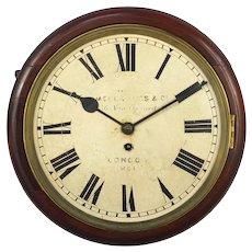 Victorian Mahogany Fusée Wall Clock