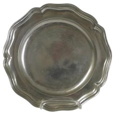 Continental Rococo Period Pewter Plate, 18th Century