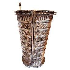 Vintage Antique Ethnic Tribal silver  Bracelet Bangle  Rajasthan Ind.