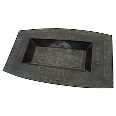 1930's Japanese Iron Censer/Ashtray in Egyptian Revival Style Hieroglyphics