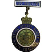 1971 State Dental Nurse of New Zealand Enameled Medal UT PROSIM