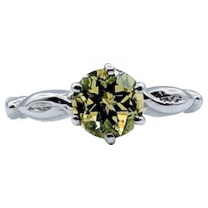 Lovely Vintage Peridot Solitaire Ring Size 5