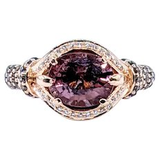 Beautiful LeVian Tourmaline & Diamond Cocktail Ring