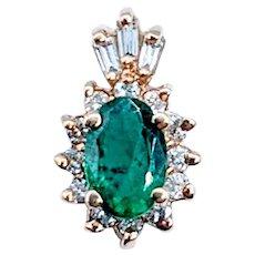 Gorgeous Emerald & Diamond Pendant