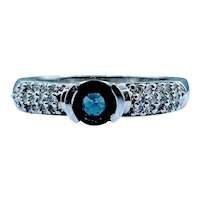 14kt 1/2ct Sapphire & Diamond Ring