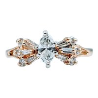 Brilliant Diamond Marquise Ring