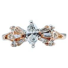 Brilliant Diamond Marquise Ring