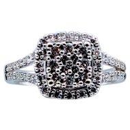 1ctw White Gold Diamond Cocktail Ring