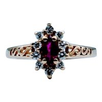 Vintage 1/3ct Ruby & Diamond Ring