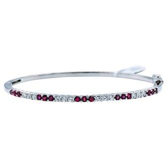 Ruby & Diamond Bangle Bracelet