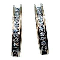 Stunning Diamond Hoop Earrings