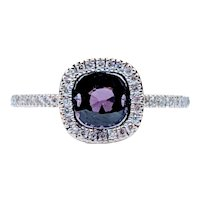 18kt Deep Purple Spinel Eternity Diamond Ring
