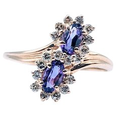 Double Halo Oval Amethyst and Diamond Ring