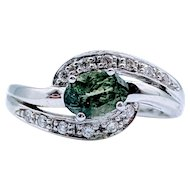 18kt Tourmaline & Diamond Ring