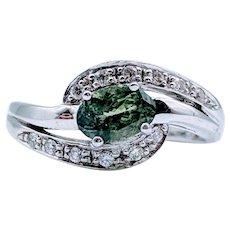 18kt Tourmaline & Diamond Ring