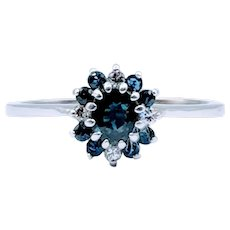 Sapphire and Diamond Cocktail Ring 14k