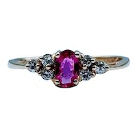 Beautiful .23ct Ruby & Diamond Ring