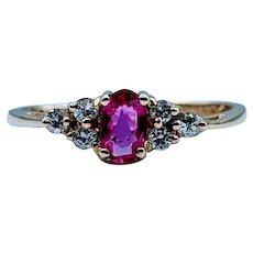 Beautiful .23ct Ruby & Diamond Ring