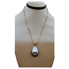 Mabe Cultured Drop Pearl Pendant