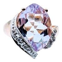 Lavender Amethyst and Diamond Ring