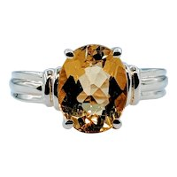 Gorgeous Golden Heliodor Beryl 14k Ring