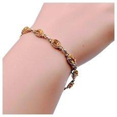 "Beautiful Citrine Bracelet 14k Yellow Gold 7.5"""