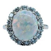 Stunning Vintage Opal & Diamond Ring