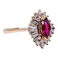 Ruby & Diamond Ballerina Ring