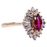 Ruby & Diamond Ballerina Ring