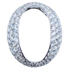 Beautiful Oval Diamond Pendant 1.8ctw