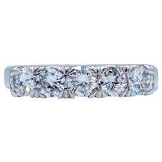 Elegant 1ctw Platinum Diamond Band