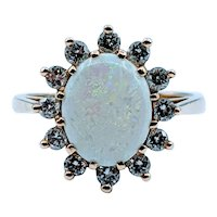 1.20ct Opal & Diamond Ring