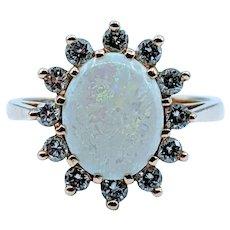 1.20ct Opal & Diamond Ring