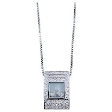 1/2 Carat Diamond Shaker Pendant 18k w/14k chain