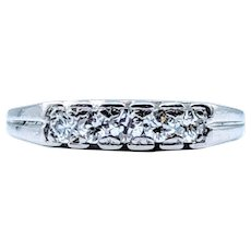 **High Quality** Vintage Platinum Diamond Ring