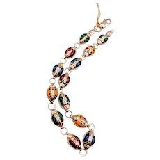 Colorful Enamel Ladybug Bracelet