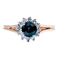Vintage Sapphire and Diamond Ring by Spark Creations