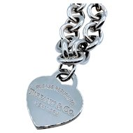 """Vintage Tiffany Heart Tag Necklace SS 16"""""""