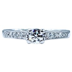 High Quality 18K Diamond Engagement Ring