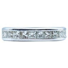 1.00ctw Princess Diamond Wedding Band
