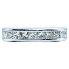 1.00ctw Princess Diamond Wedding Band