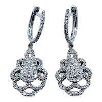 1.0ctw Diamond Dangle Earrings