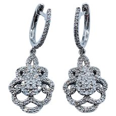 1.0ctw Diamond Dangle Earrings