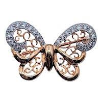 Butterfly Brooch 18kt