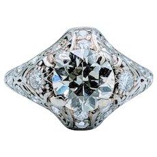Antique Engagement Ring 1.87ctw
