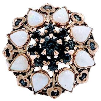 Bohemian Opal & Sapphire Ring