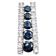 Sapphire and Diamond Ladder Pendant
