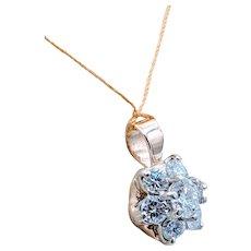 3/4ctw 7 Diamond Pendant